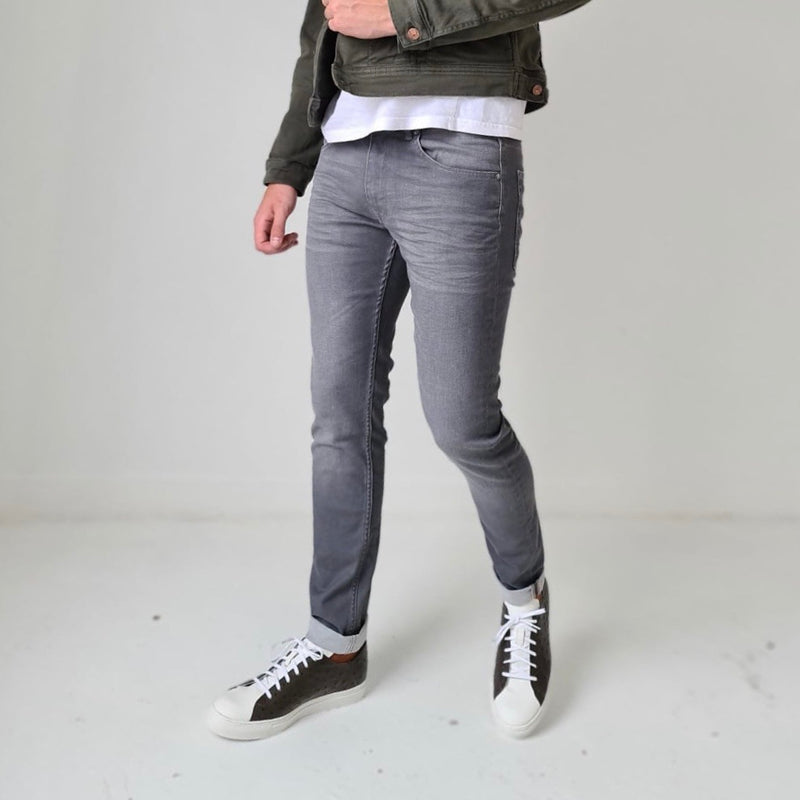 Petrol Seaham Coated Slim Grey Jean