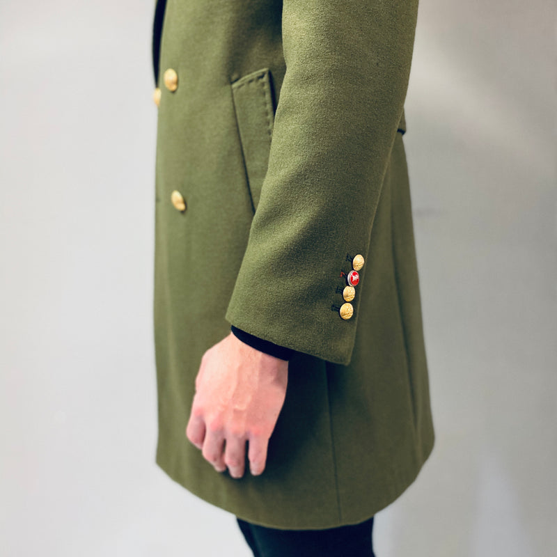 Mulish Olive Green Double Breasted Overcoat