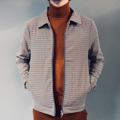 Matinique Bro Rust Brown Houndstooth Jacket