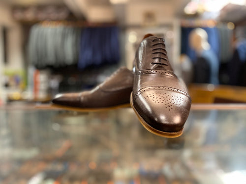 Lacuzzo Brown Leather Brogue Shoe