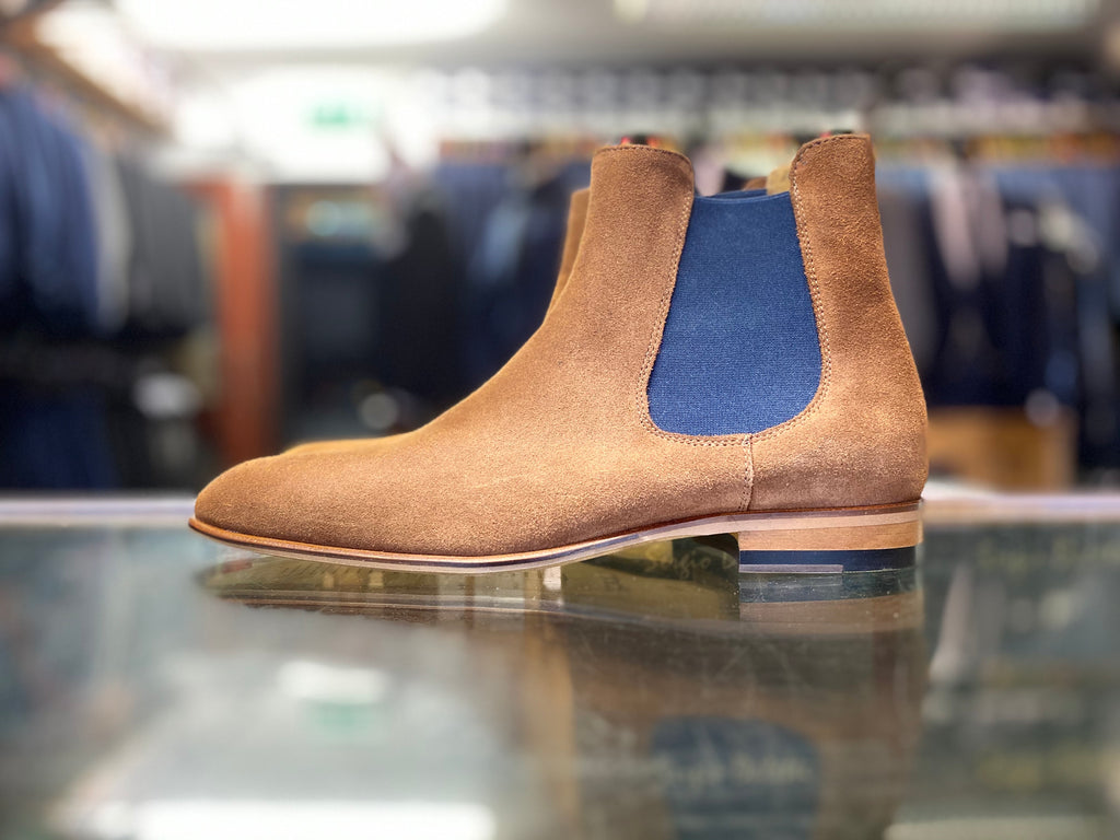 Lacuzzo Brown Suede Chelsea Boot