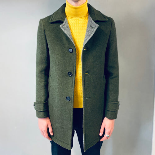 Markup Capp Collo Green Overcoat