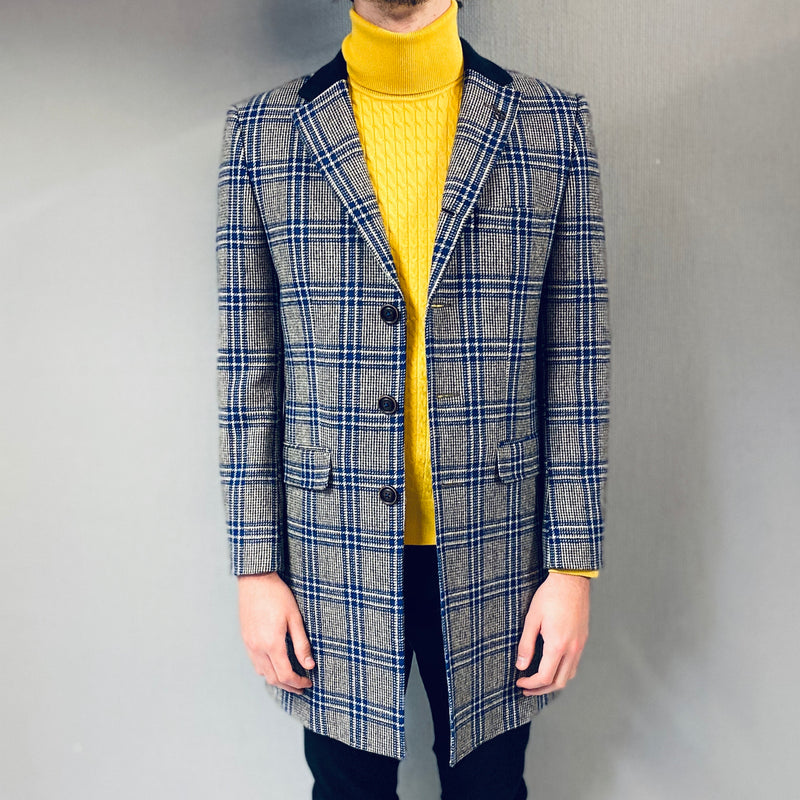 Gibson Of London Check Overcoat