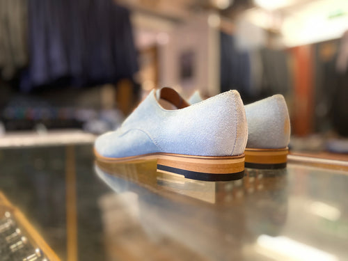 Lacuzzo Baby Blue Suede Shoe
