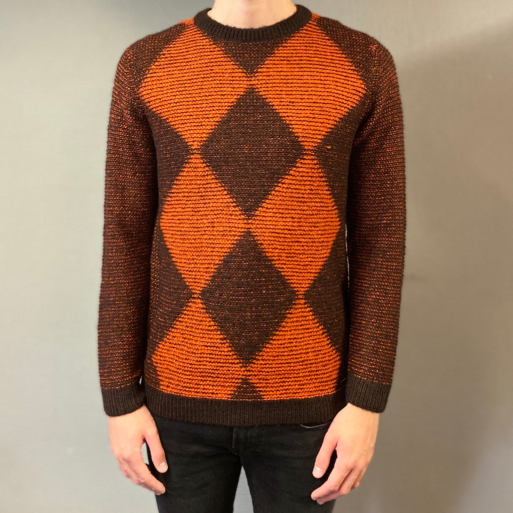 Markup Burnt Rombi Knit Jumper