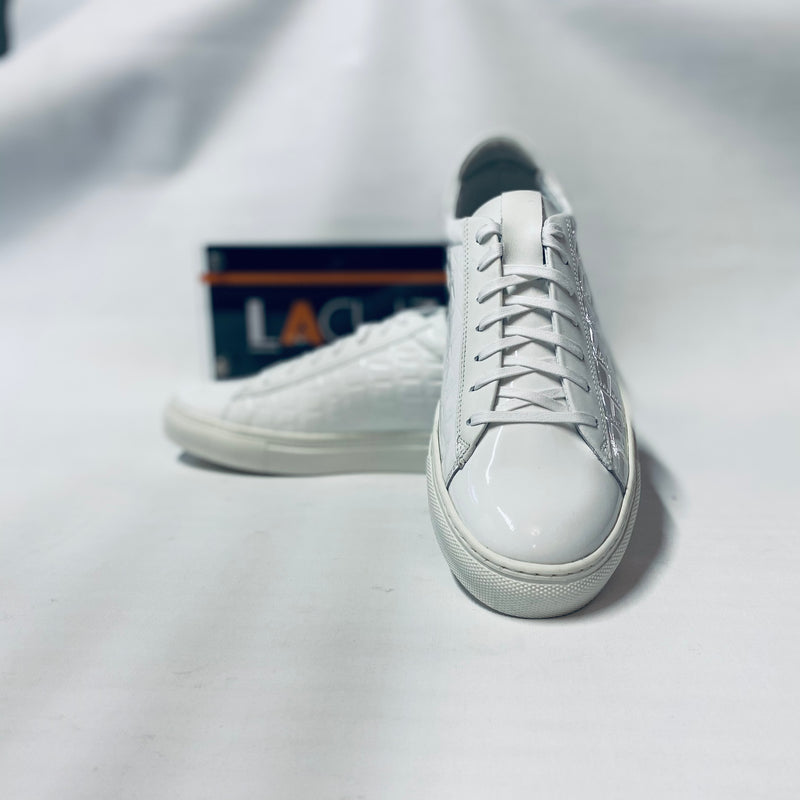 Lacuzzo White Patent Leather Trainers