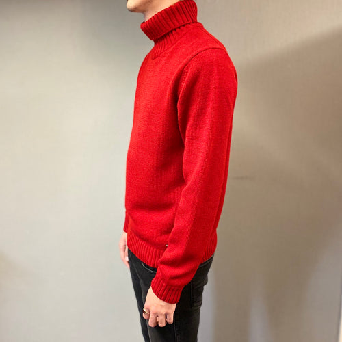 Markup Red Rasato Knit Rollneck