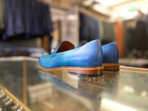 Lacuzzo Two Tone Blue Slip