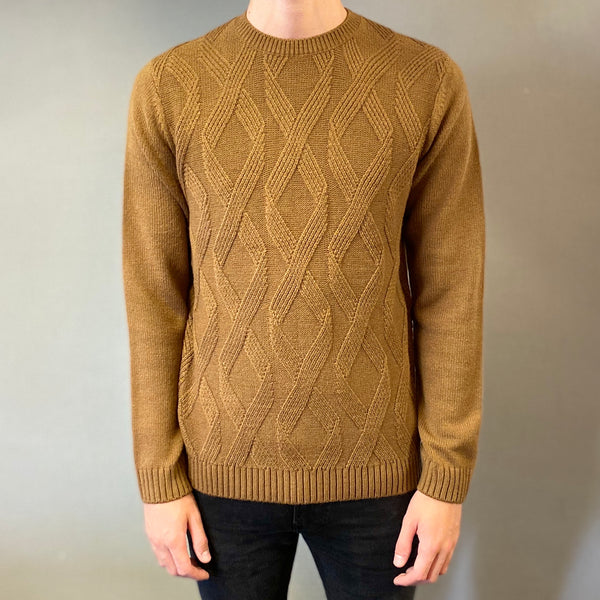 Markup Brown Losanghe Davanti Knit Jumper