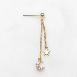 Earpin Sparkle Moon Star