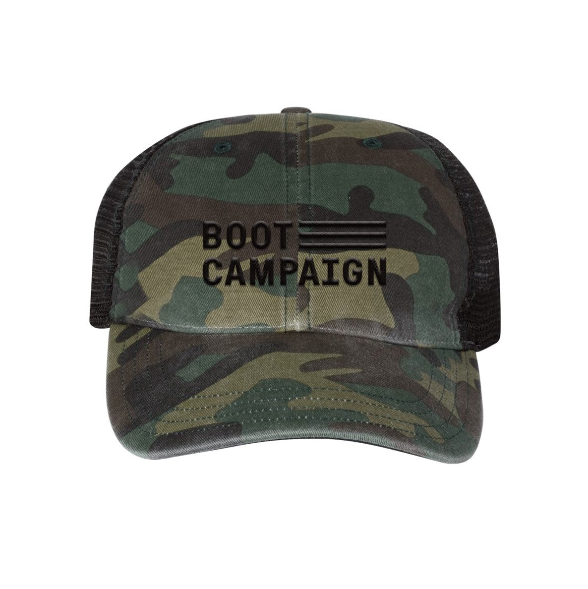 Boot Campaign Washed Camo Hat