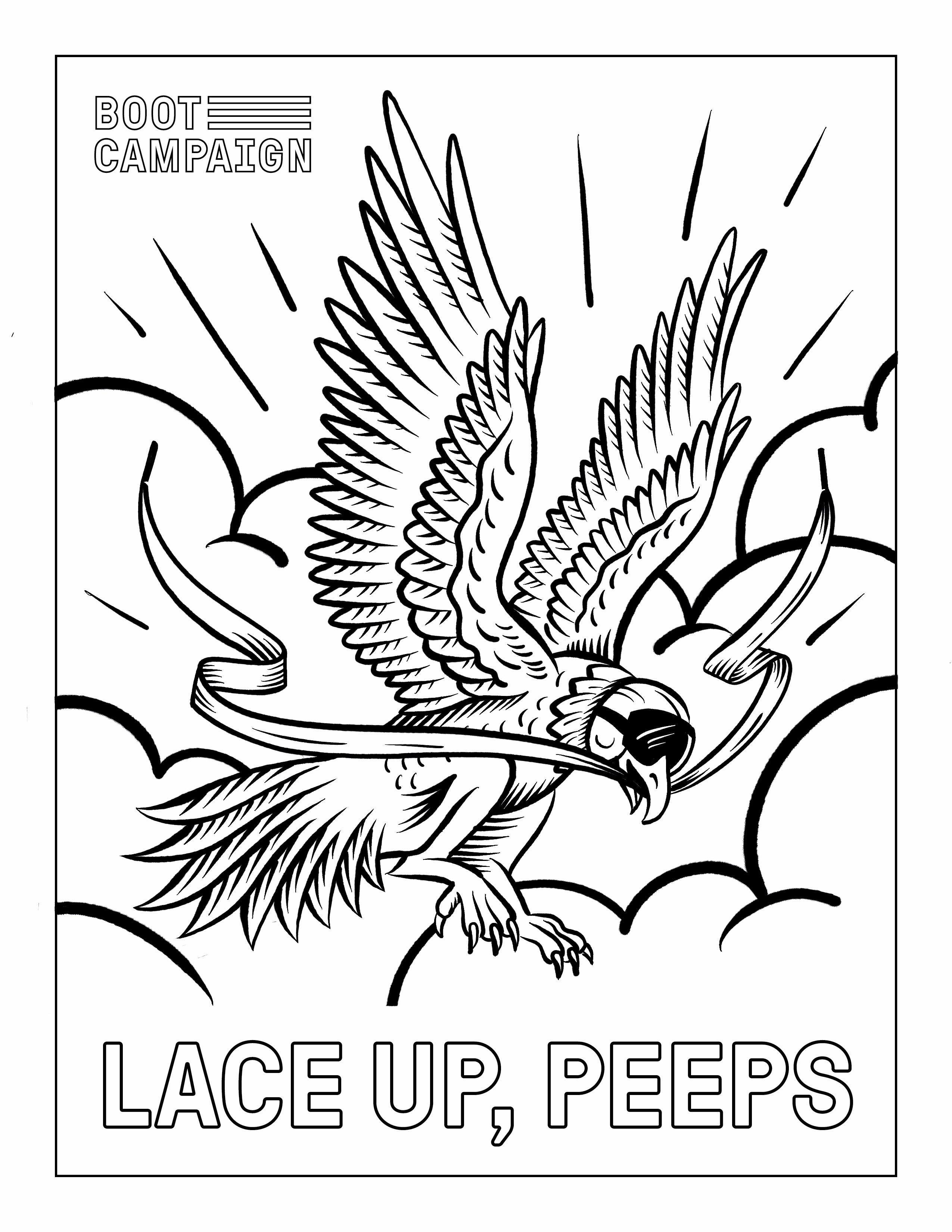 LACE UP, COLORING PAGES