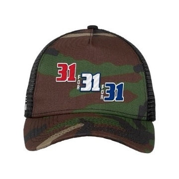 31 For 31 For 31 Camo Trucker Hat