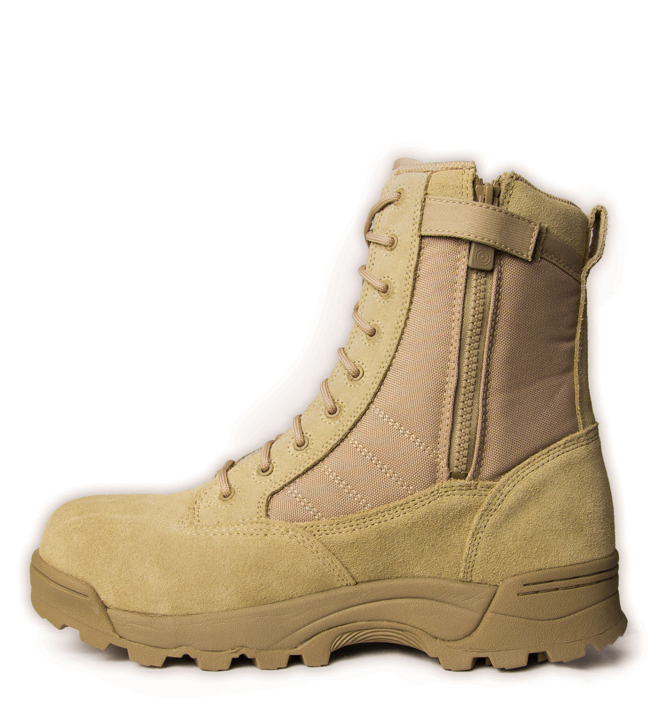 Original Swat Side Zip Steel Toe Boots Desert Tan Boot