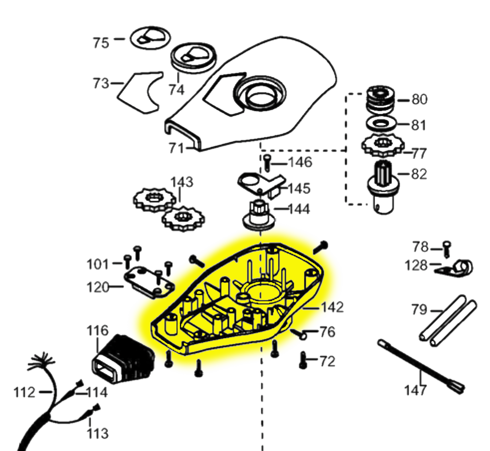 Minn Kota Control Box Assembly 2262535 Northland Marine 120 Mercruiser Engine Wiring Diagram