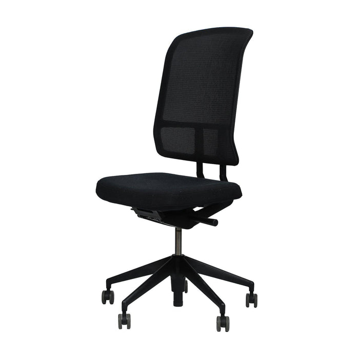 Chaise de bureau AM Chair Vitra occasion - Noir - Sans accoudoirs - 49,5 x 45 x 124 cm-Bluedigo