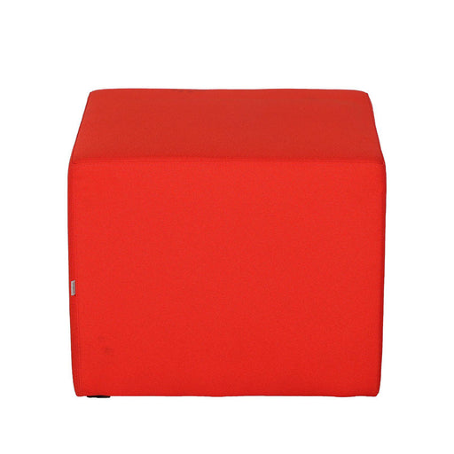 Pouf carré Vancouver Oto occasion - Orange - 54 x 54 x 44 cm-Bluedigo