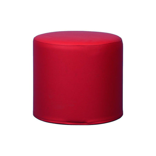 Pouf Softline occasion - Rouge - 45 x 40 cm-Bluedigo