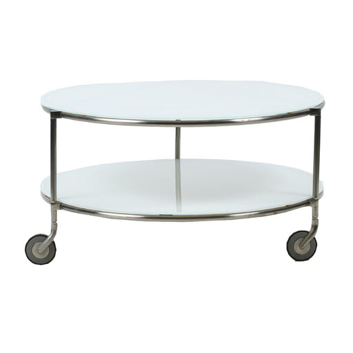 Table basse design occasion - Blanc - 75 x 40 cm-Bluedigo