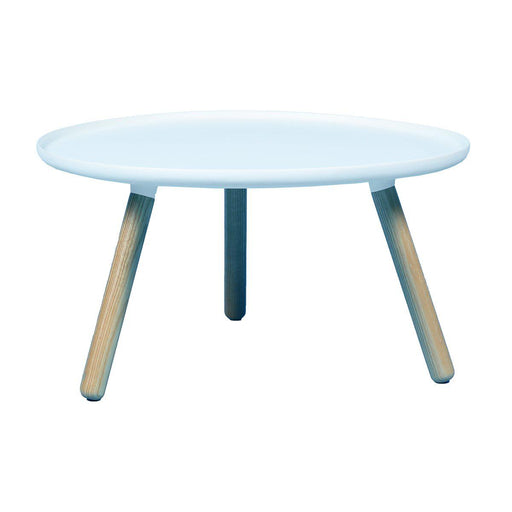 Table basse design occasion - Blanc - 78 x 43 cm-Bluedigo