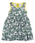 Sleeveless Dress with Gathered Skirt | Wood Anemone - Viola
