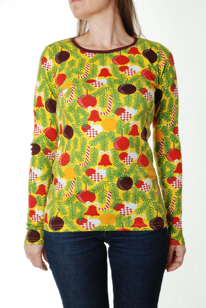 Long Sleeve Top | Christmas Tree - Yellow