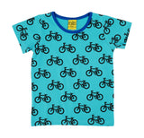 MTAF All Over Printed | Short Sleeve Top | Bike - Turquoise