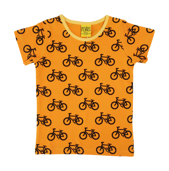 MTAF All Over Printed | Short Sleeve Top | Bike - Light Orange