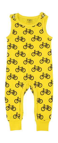Mtaf All over printed | Dungaree | Bike - Yellow