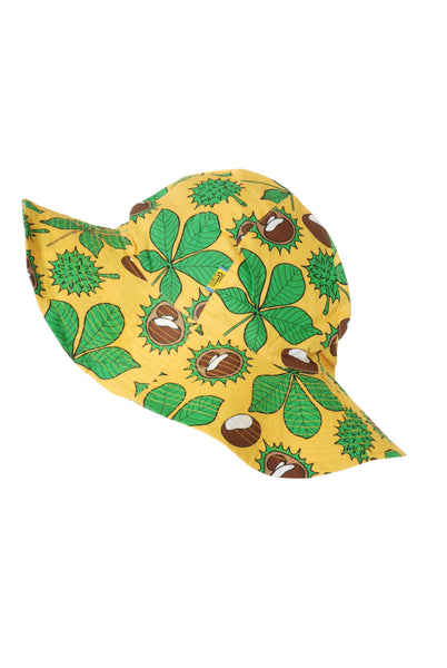 Sun Hat | Chestnut - Daffodil Yellow