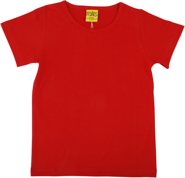 Solid | Short Sleeve Top | Poppy Red