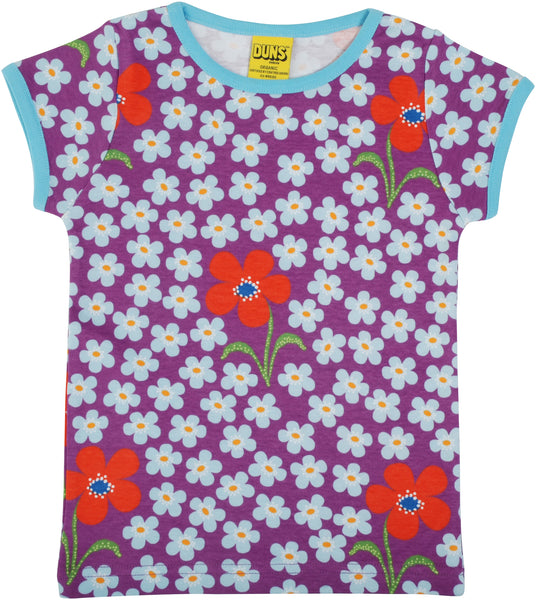 Short Sleeve Top | Flower - Amethyst