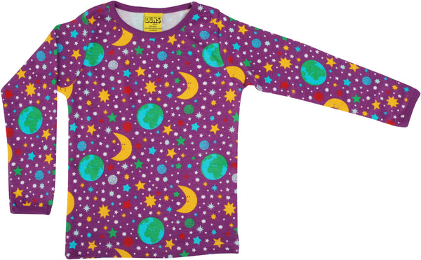 Long Sleeve Top | Mother Earth - Bright Violet