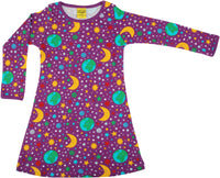 Long Sleeve Dress | Mother Earth - Bright Violet
