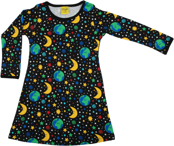 Long Sleeve Dress | Mother Earth - Black