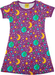 Short Sleeve Dress | Mother Earth - Bright Violet
