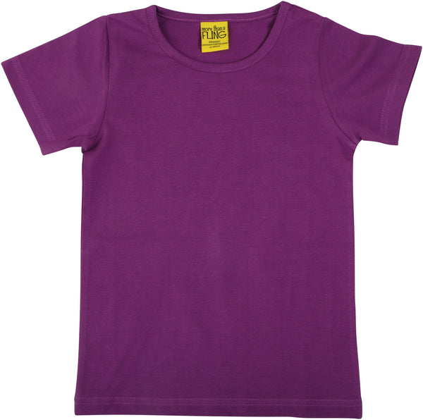 Solid | Short Sleeve Top | Bright Violet