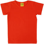 Solid | Short Sleeve Top | Mandarin Red