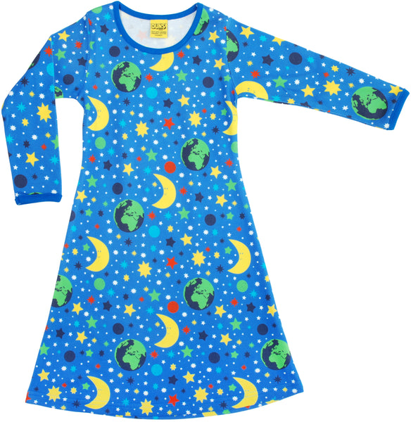 Long Sleeve Dress | Mother Earth - Blue