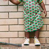 Short Sleeve Dress | Radish - Green