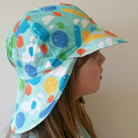 Sun Hat with Front & Back cap | Balloons Turquoise | Sample /Second assortment