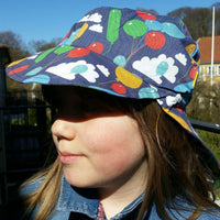 Sun Hat with Front & Back cap | Balloons Dark Blue | Sample /Second assortment