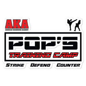POPS Training Camp -Black - Bubble-free stickers