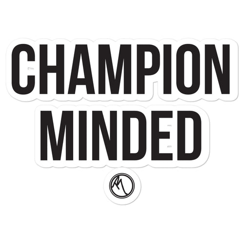 Champion Minded Black - Bubble-free stickers