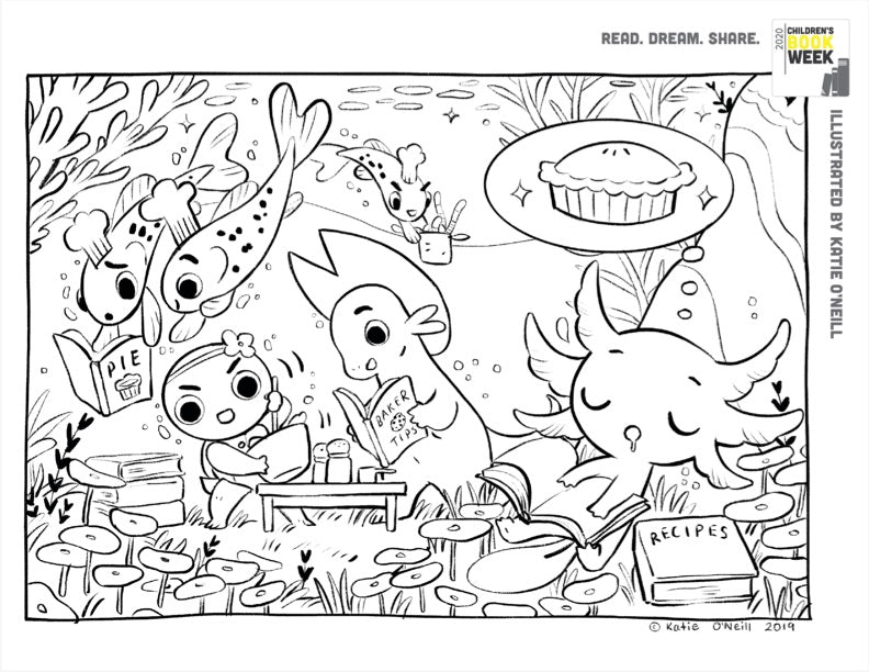 Dewdrop Coloring Sheet