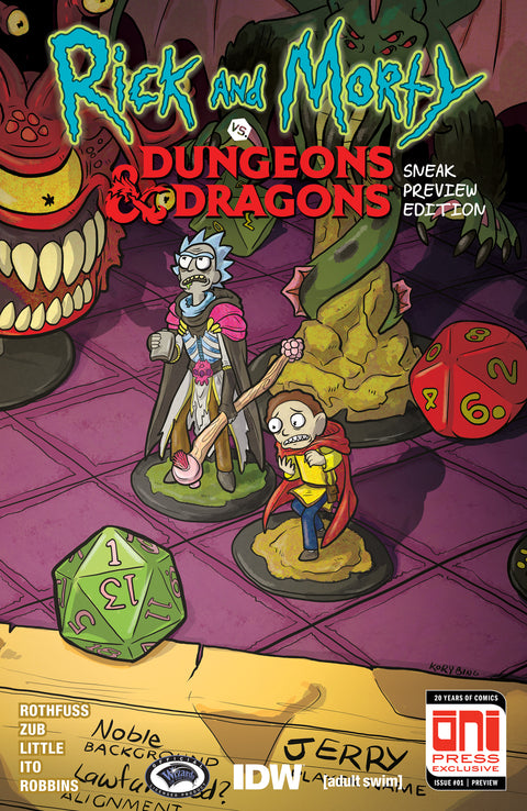 Rick and Morty Dungeons & Dragons #1 Sneak Preview