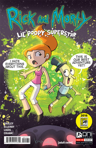 Rick and Morty: Lil' Poopy Superstar #1 SDCC Variant