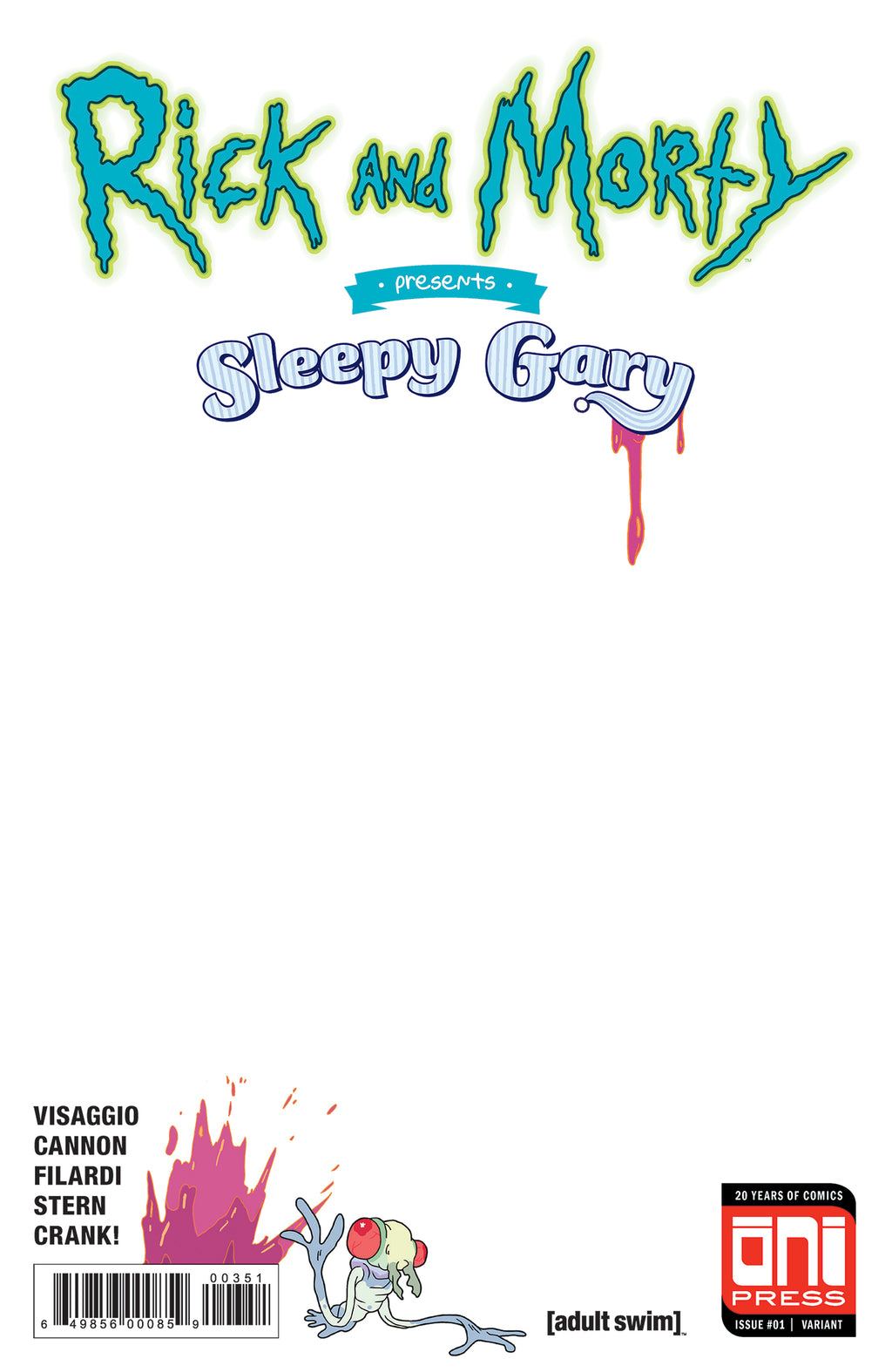 Rick and Morty Presents: Sleepy Gary #1 Sketch Cover