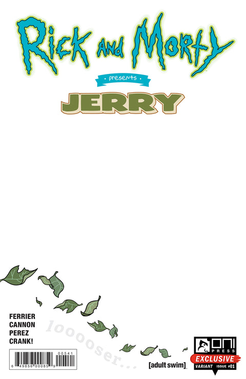 Rick and Morty Presents: Jerry #1 Sketch Cover variant