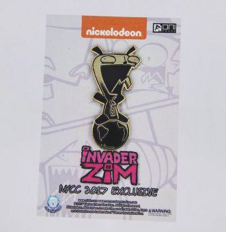 Invader Zim - Gold Gir Pin